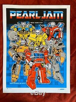 Pearl Jam Poster Central Park New York Concert 26/09/15 Nyc