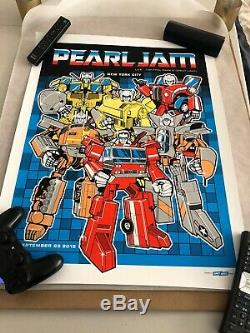 Pearl Jam Poster Central Park New York Concert 26/09/15 Nyc Super Nm Rare