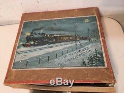 Rare Antique Bing Clockwork Train Boxed Set New York Central Nyc & H R Hartford