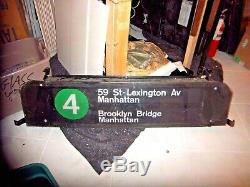 Rare Nyc Subway Sign Box Brooklyn Bridge Grand Central Station Penn Ny Rouleau Connexion