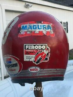 Vintage 1970 Red Bell Rt R-t Open Faced Helmet Central Ny Moto Champion