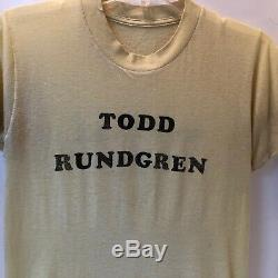 Vintage 1970stodd Rundgrencentral Park, New York Times-shirt Concert Billet Stubbutton