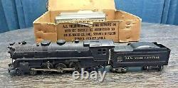 Vintage Marx Stream Line Kit De Train Électrique Avec La Boîte #35149 New York Central