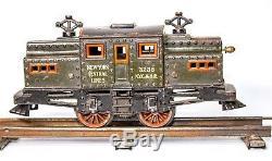Vintage Pre-guerre Bing 0 Gauge Central Lines Ny # 3238 Loco De Train De Voyageurs