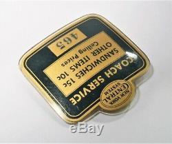 Vtg Bouton Badge Pin De Chemin De Fer De New York Nyc Central Celluloid Service Coach Rare